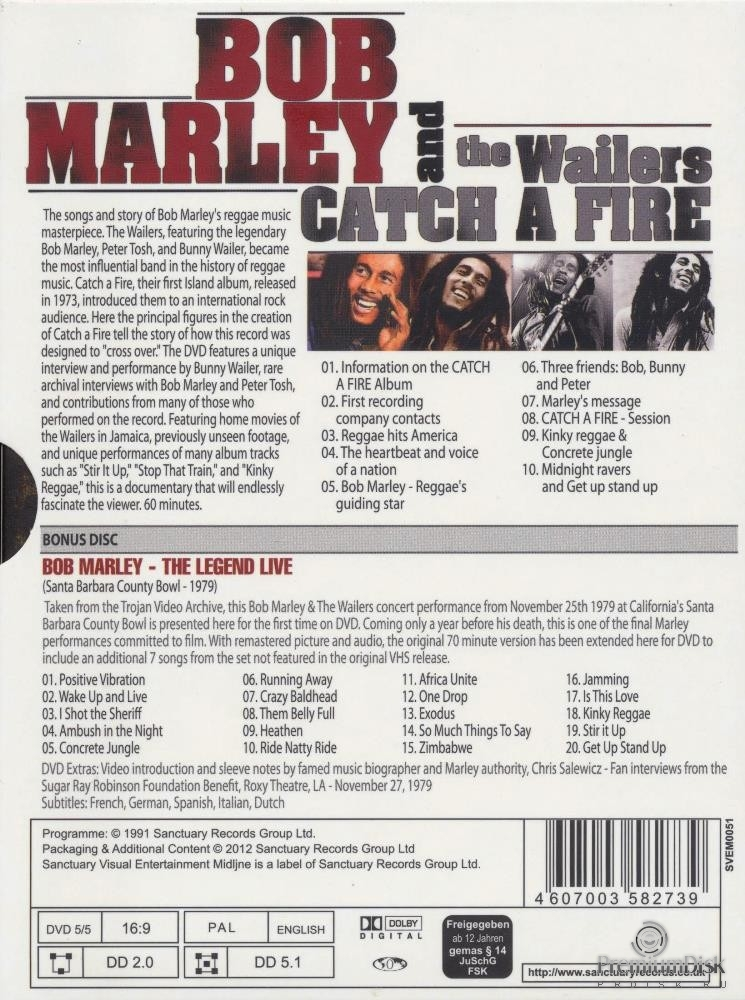 Bob Marley and The Wailers - Catch A Fire (2DVD)