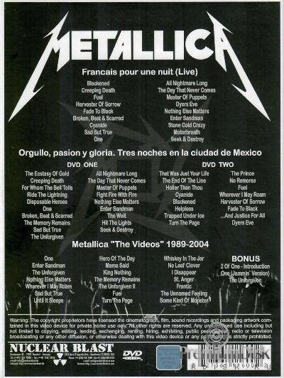 Metallica ‎– Best Music Videos & Concerts
