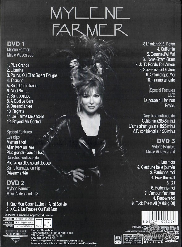 Mylene Farmer - Music Videos (3DVD)