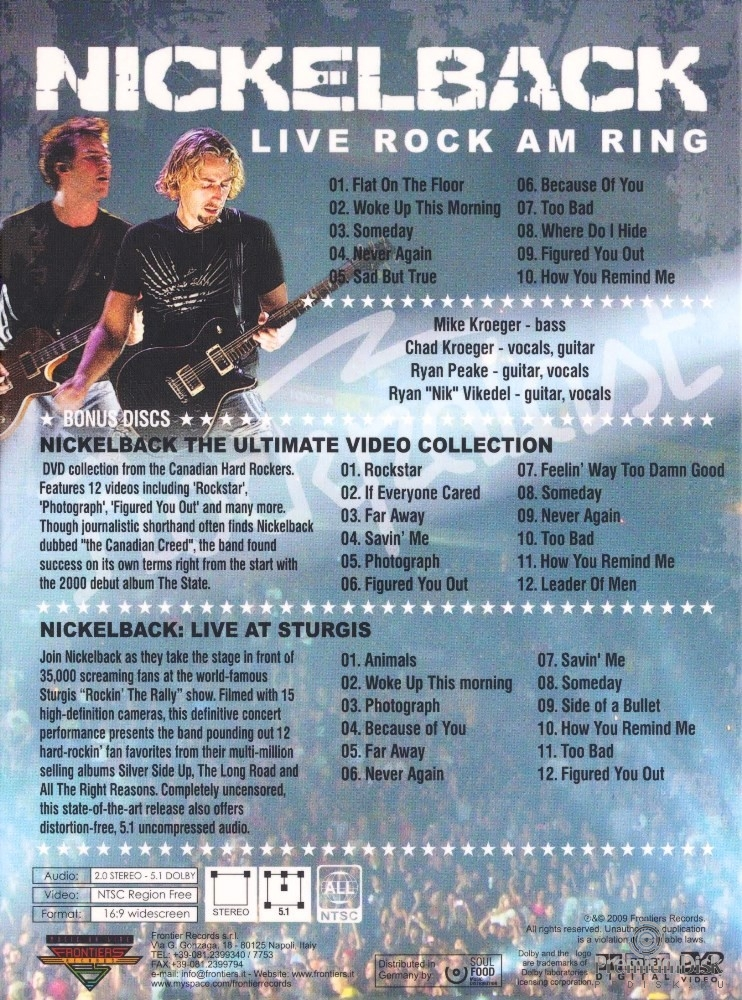 Nickelback - Live Rock Am Ring (3DVD)
