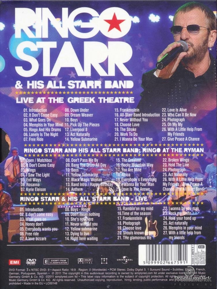 Ringo Starr And His All Starr Band - Live At The Greek Theatre (3DVD)