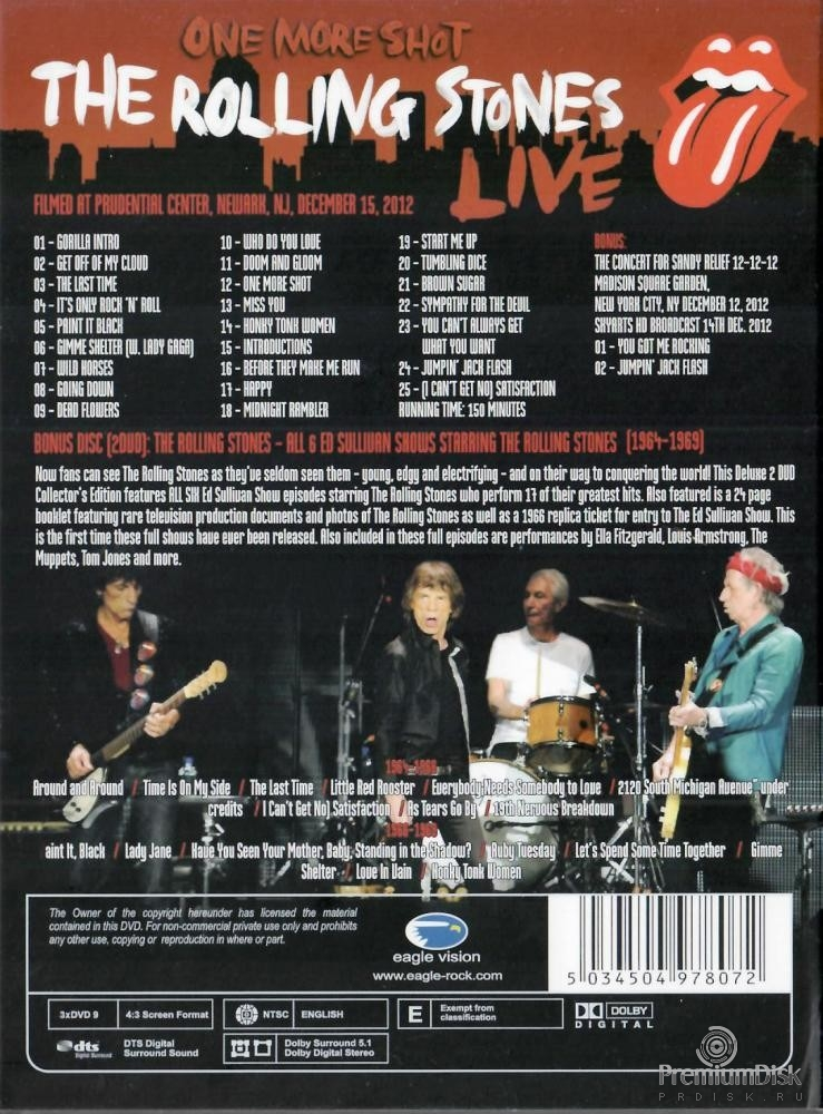 The Rolling Stones: One more Shot Live (3 DVD)