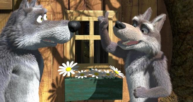 мультфильм заяц волк медведь